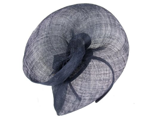 Navy racing fascinator by Max Alexander