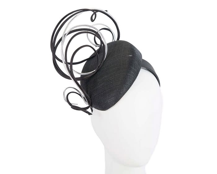 Fascinators Online - Designers black & silver racing fascinator by Fillies Collection 1