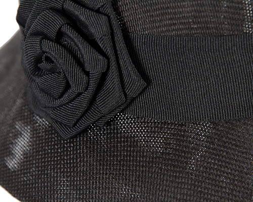 Fascinators Online - Black spring racing bucket hat by Max Alexander 3