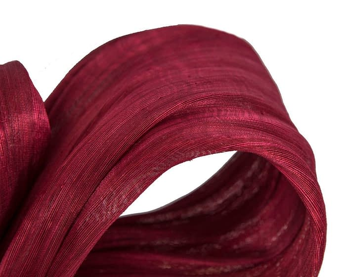 Fascinators Online - Burgundy wine bow racing fascinator by Fillies Collection 3
