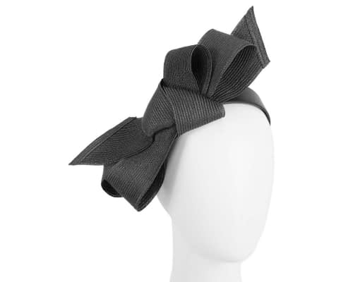 Fascinators Online - Large black bow fascinator by Max Alexander 14