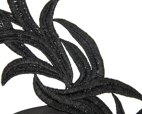Fascinators Online - Black lace crown fascinator by Max Alexander 3