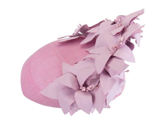Fascinators Online - Lilac leather flower pillbox fascinator by Fillies Collection 3