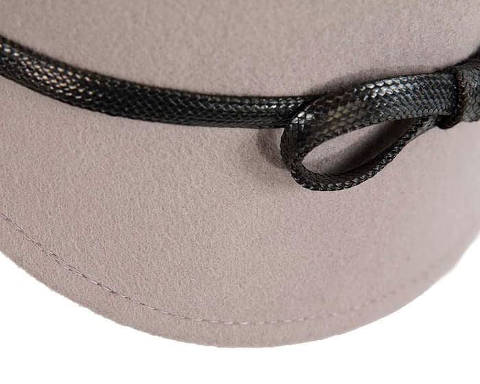 Fascinators Online - Grey felt cloche hat by Max Alexander 4