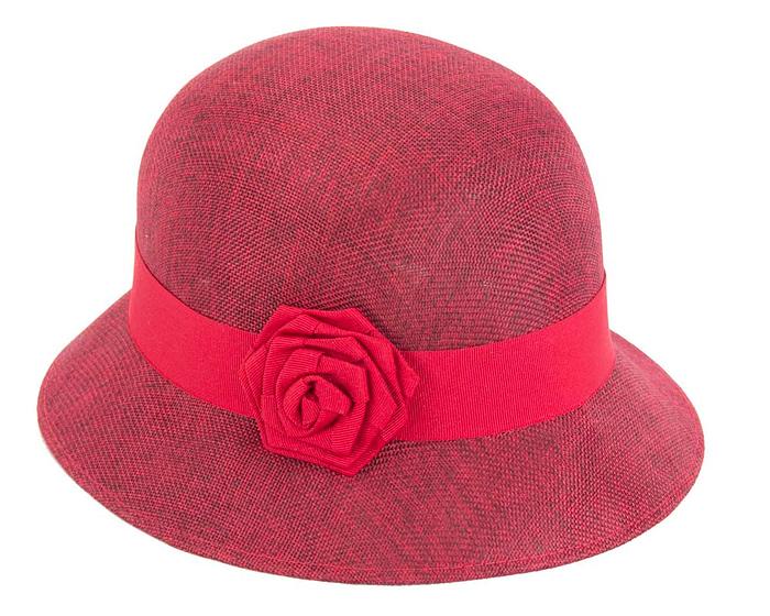 Fascinators Online - Red spring racing bucket hat by Max Alexander 2