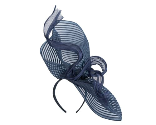 Fascinators Online - Tall Australian Made navy racing fascinator by Fillies Collection 2