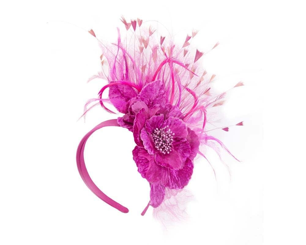 Fuchsia flower fascinator