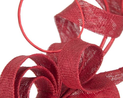 Fascinators Online - Tall Red racing fascinator by Max Alexander 4