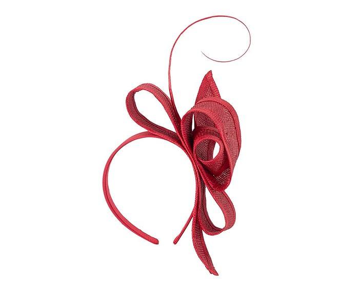 Fascinators Online - Red Australian Made bow fascinator 2