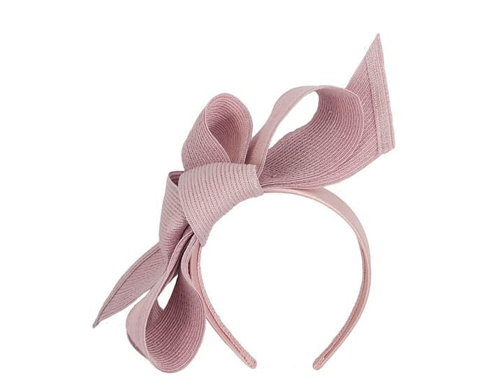 Fascinators Online - Large dusty pink bow fascinator by Max Alexander 2