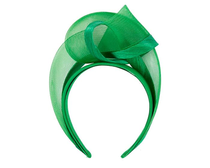 Fascinators Online - Green turban headband by Fillies Collection 4