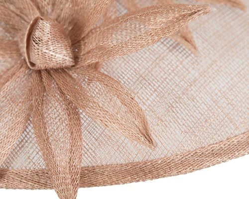 Fascinators Online - Large traditional nude racing hat by Max Alexander 5