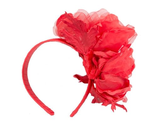 Fascinators Online - Red Silk Flower Fascinator by Fillies Collection 4