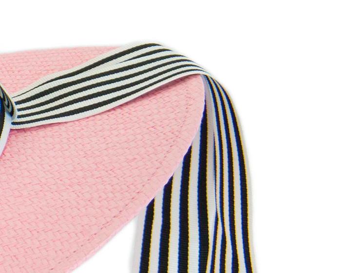 Fascinators Online - Pink boater hat by Max Alexander 3