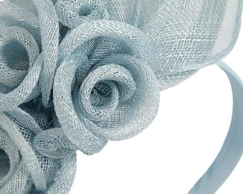 Fascinators Online - Large light blue flower headband fascinator by Max Alexander 3