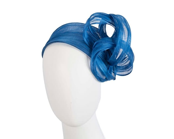 Fascinators Online - Royal blue retro headband fascinator by Fillies Collection 1