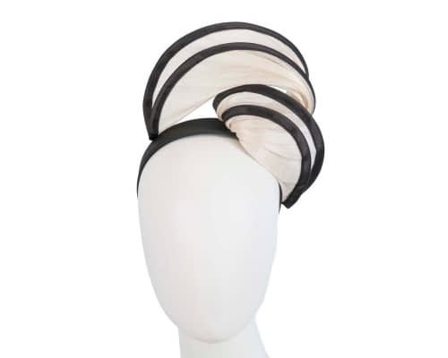 Fascinators Online - Cream & black headband racing fascinator by Fillies Collection 1