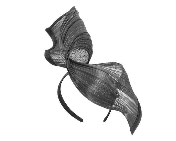 Fascinators Online - Black twisted jinsin fascinator by Fillies Collection 2