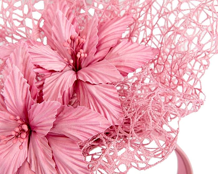 Fascinators Online - Dusty Pink designers racing fascinator by Fillies Collection 3