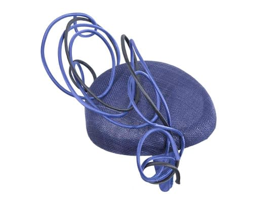 Fascinators Online - Designers royal blue & navy racing fascinator by Fillies Collection 3