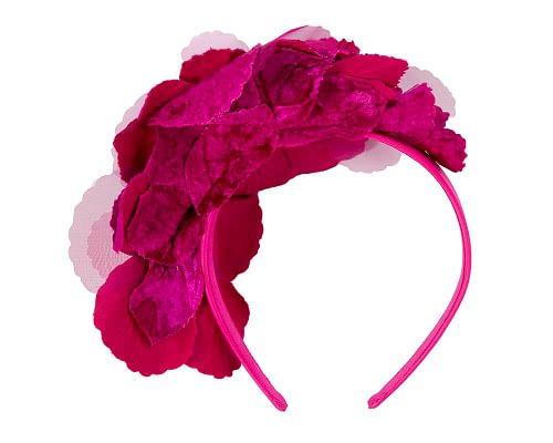 Fascinators Online - Fuchsia flowers on the headband 4