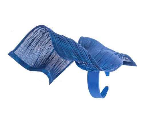 Fascinators Online - Royal blue twisted jinsin fascinator by Fillies Collection 5