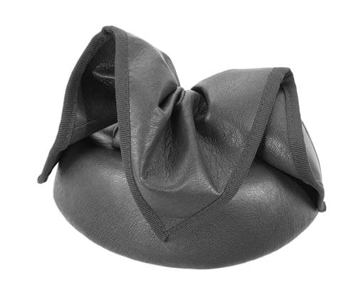 Fascinators Online - Black leather pillbox fascinator by Max Alexander 4
