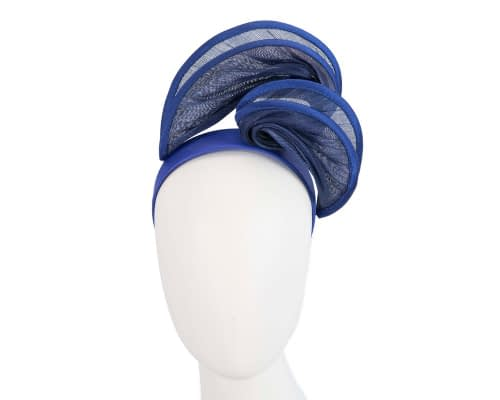 Fascinators Online - Royal blue headband racing fascinator by Fillies Collection 1