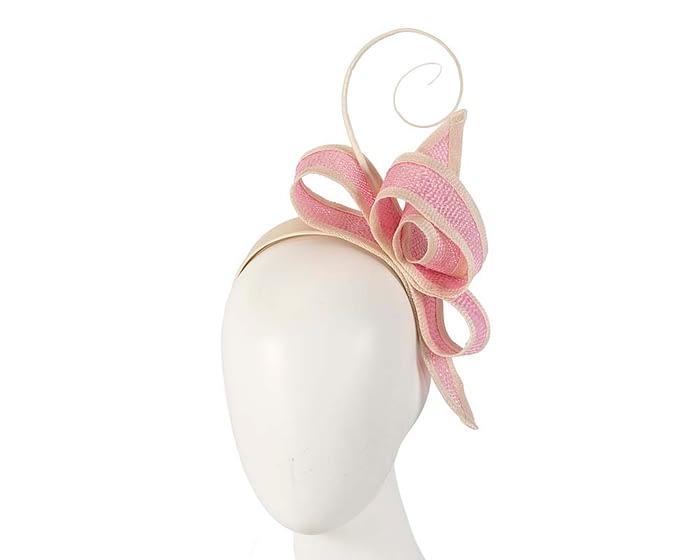Fascinators Online - Pink Australian Made bow fascinator 1