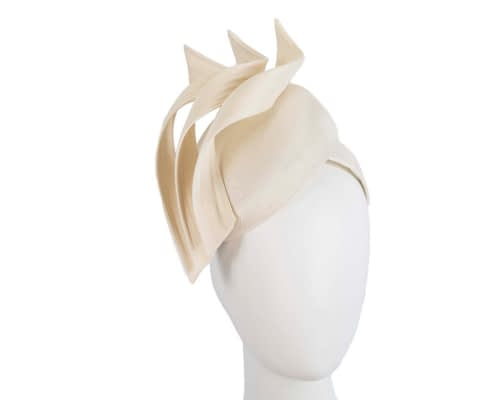 Fascinators Online - Cream pillbox racing fascinator with jinsin trim by Fillies Collection 1