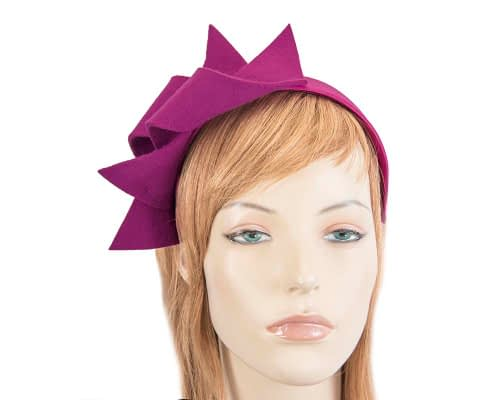 Fascinators Online - Fuchsia felt twisted fascinator by Max Alexander 77