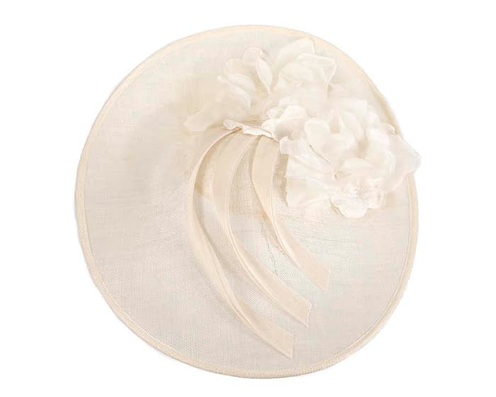 Fascinators Online - Large cream plate racing fascinator by Fillies Collection 3