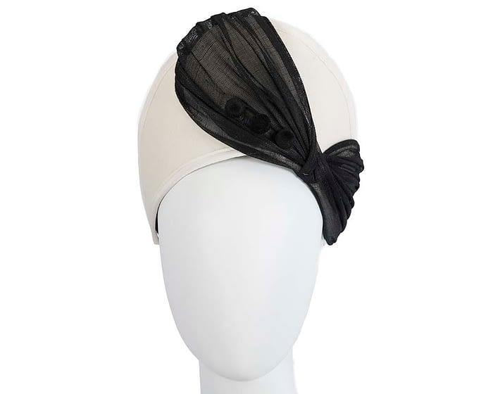Fascinators Online - Cream & black felt crown fascinator by Fillies Collection 1