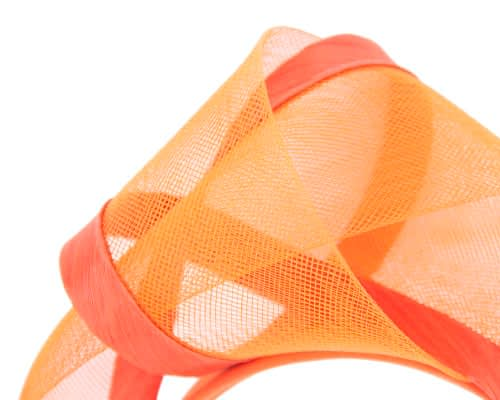 Fascinators Online - Orange turban headband by Fillies Collection 3