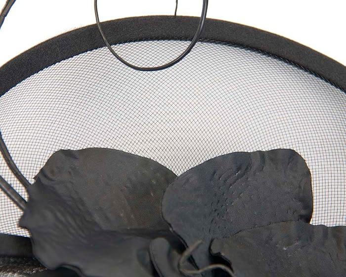 Fascinators Online - Bespoke black heart fascinator by Fillies Collection 3