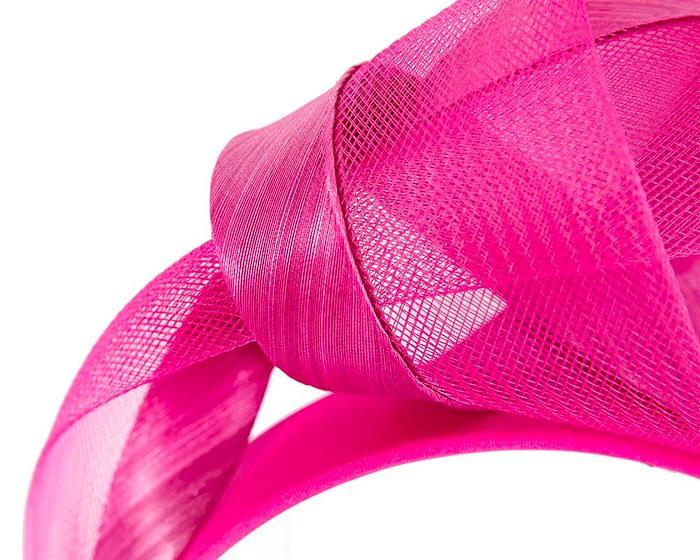 Fascinators Online - Fuchsia turban headband by Fillies Collection 3