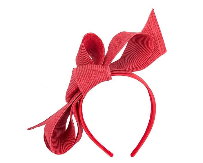 Fascinators Online - Large red bow fascinator by Max Alexander 2