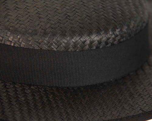 Fascinators Online - Small black boater fascinator hat by Max Alexander 4