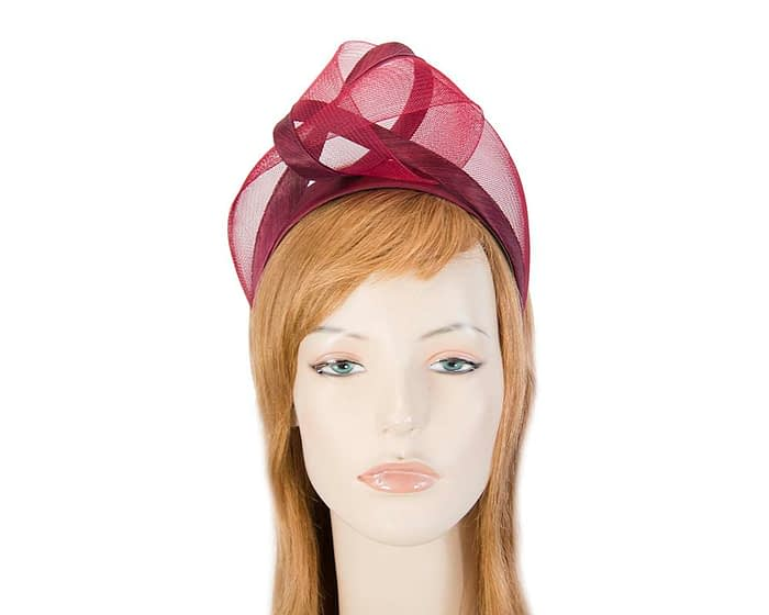 Fascinators Online - Wine turban headband by Fillies Collection 1