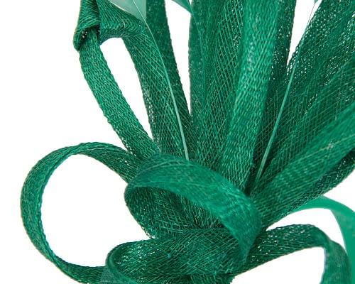 Fascinators Online - Green spiky sinamay racing fascinator by Max Alexander 3