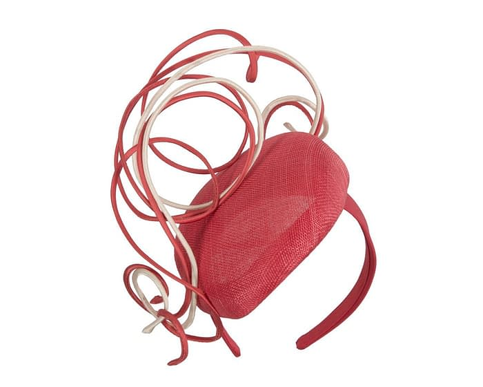 Fascinators Online - Designers red & nude racing fascinator by Fillies Collection 2
