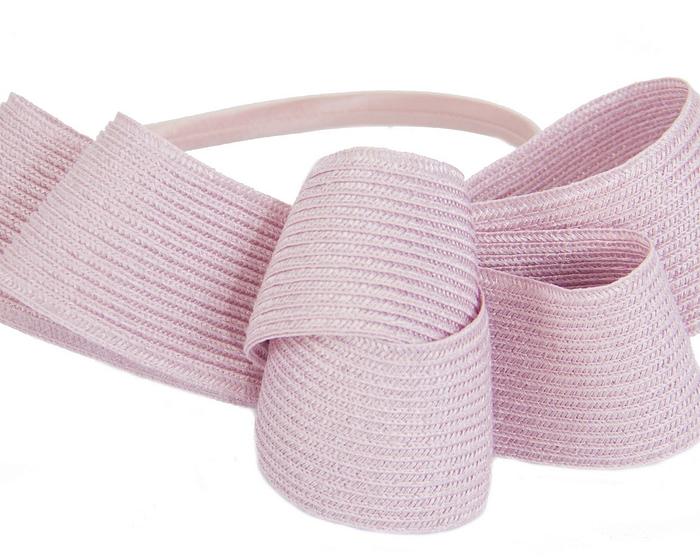 Fascinators Online - Large dusty pink bow racing fascinator by Max Alexander 3