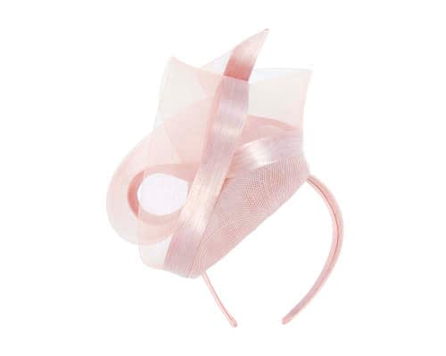 Fascinators Online - Tall modern pink pillbox racing fascinator 5