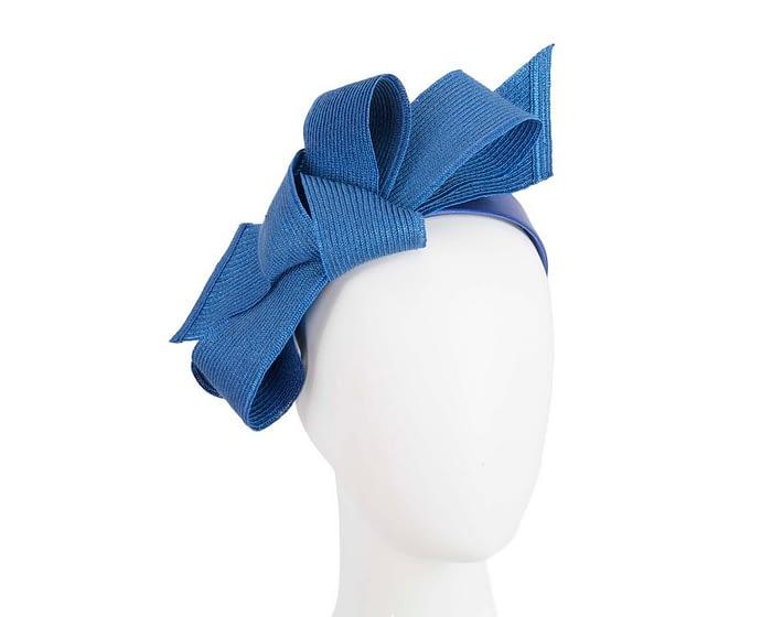 Fascinators Online - Large royal blue bow fascinator by Max Alexander 1