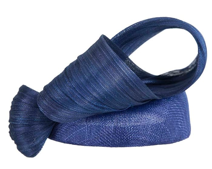 Fascinators Online - Royal Blue pillbox fascinator with large bow by Fillies Collection 3