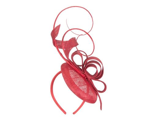 Fascinators Online - Tall Red racing fascinator by Max Alexander 5