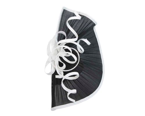 Fascinators Online - Large black & white jinsin racing fascinator by Fillies Collection 5