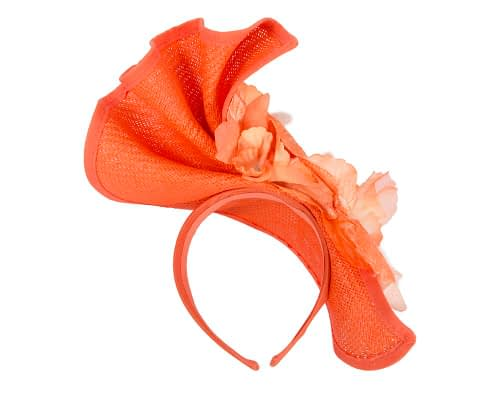 Fascinators Online - Bespoke large orange flower fascinator by Fillies Collection 5