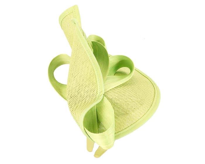 Fascinators Online - Lime green fascinator with bow by Fillies Collection 4