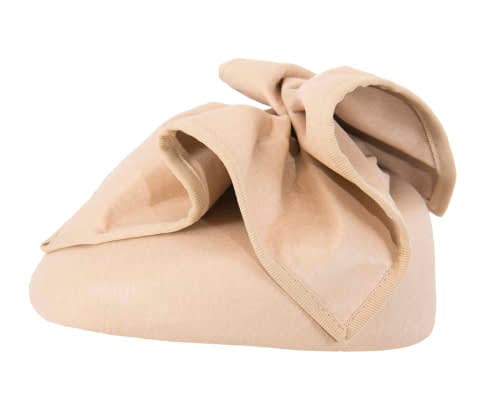 Fascinators Online - Nude leather pillbox fascinator by Max Alexander 3